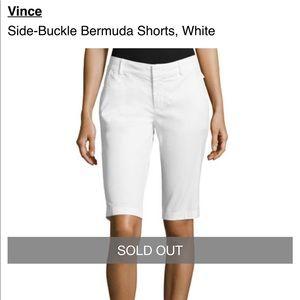 289c1af4f8 VINCE Side Buckle Bermuda Shorts White size 2